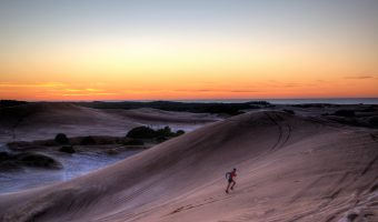 "Trophy Series Photo Contest Winner 8.3.17 - Hernan de Lahitte - ""Sand dunes workout at dawn, training for the Bear Chase Trail Races in September"""