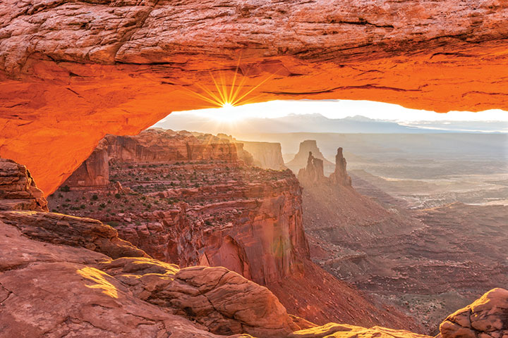 Mesa Arch at sunrise. Photo: iStockPhoto
