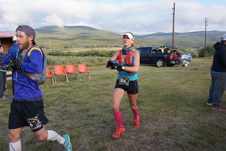 "At Leadville, ""I got to run in beautiful places with awesome people,"" Clare says. Photo by Ryan Lassen"