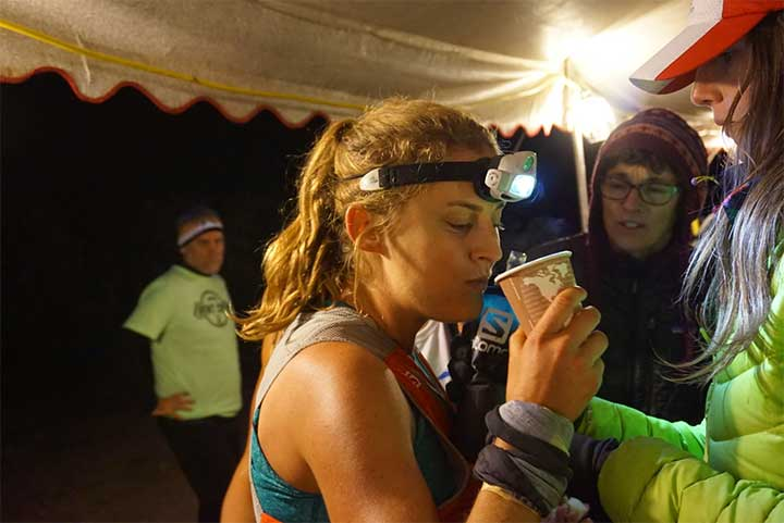 Fueling was a focus of Clare's during Leadville (though often, that meant candy). Photo by Ryan Lassen