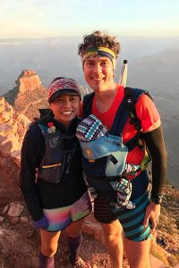trail running as new parents, Scott and Jenny Jurek