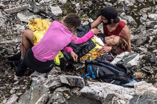 Hillary Allen Tromso skyrace fall
