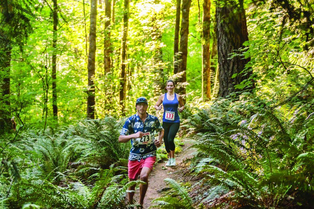 Trail run Washington