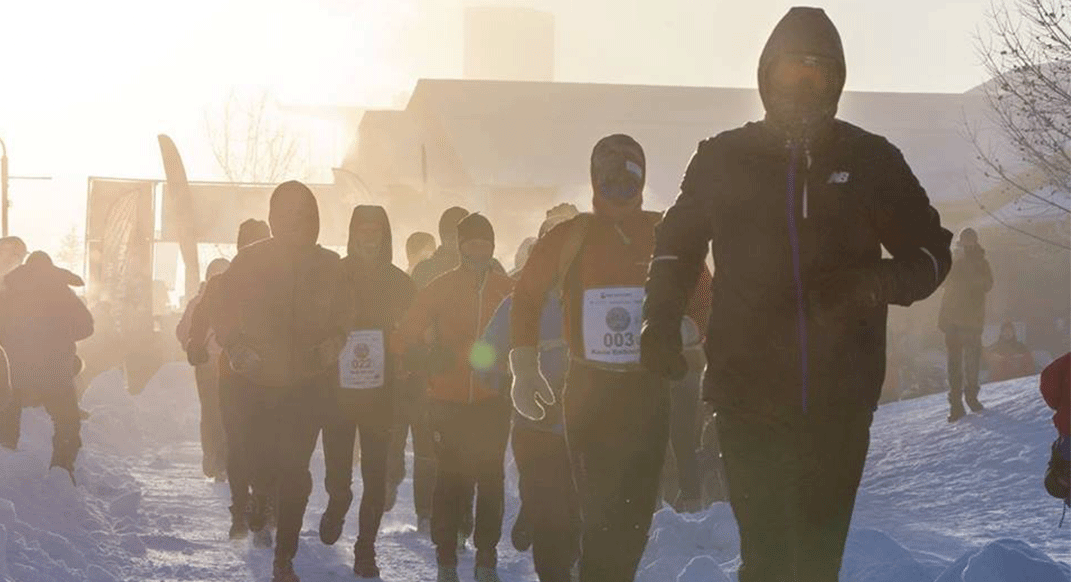 Running, and Winning, One of the Coldest Races of the Season