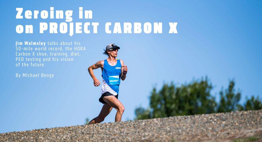 Jim Walmsley Sets 50-Mile World Record at HOKA Project Carbon X Event