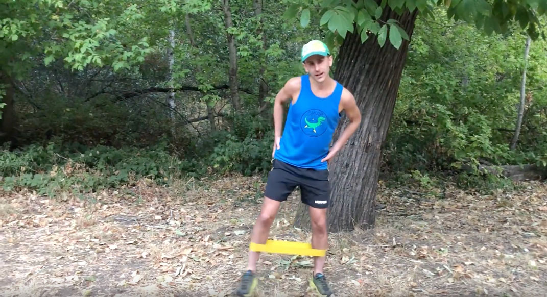 A 2-Minute Exercise-Band Routine For Strong Hips