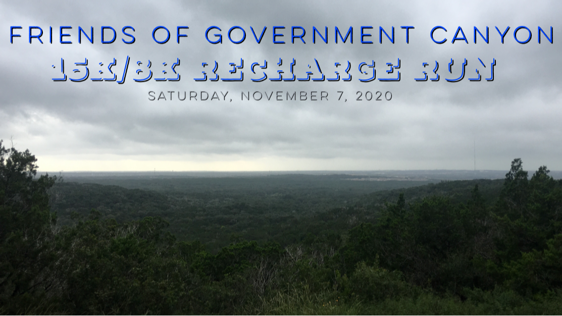 Friends of Government Canyon Recharge Run 15K/8K